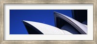 Low angle view of opera house sails, Sydney Opera House, Sydney Harbor, Sydney, New South Wales, Australia Fine Art Print