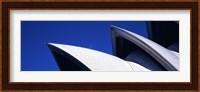 Low angle view of opera house sails, Sydney Opera House, Sydney Harbor, Sydney, New South Wales, Australia Fine Art Print