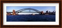 Bridge across the sea, Sydney Harbor Bridge, McMahons Point, Sydney Harbor, Sydney, New South Wales, Australia Fine Art Print