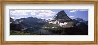 Lake surrounded with mountains, Bearhat Mountain, Hidden Lake, US Glacier National Park, Montana, USA Fine Art Print