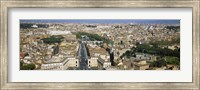 Overview of the historic centre of Rome from the dome of St. Peter's Basilica, Vatican City, Rome, Lazio, Italy Fine Art Print