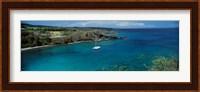 Sailboat in the bay, Honolua Bay, Maui, Hawaii, USA Fine Art Print