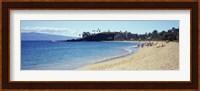 Hotel on the beach, Black Rock Hotel, Maui, Hawaii, USA Fine Art Print