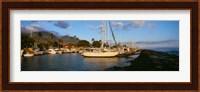 Sailboats in the bay, Lahaina Harbor, Lahaina, Maui, Hawaii, USA Fine Art Print