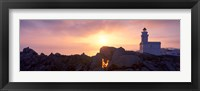 Lighthouse on the coast, Capo Testa, Santa Teresa Gallura, Sardinia, Italy Fine Art Print