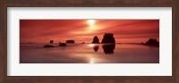 Beach Sunset, Olympic National Park, Washington State Fine Art Print