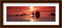 Beach Sunset, Olympic National Park, Washington State Fine Art Print