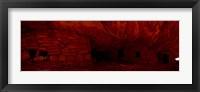 House Of Fire in red, Anasazi Ruins, Mule Canyon, Utah, USA Fine Art Print