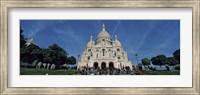 Crowd at a basilica, Basilique Du Sacre Coeur, Montmartre, Paris, Ile-de-France, France Fine Art Print