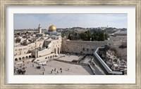 Tourists praying at the Wailing Wall in Jerusalem, Israel Fine Art Print