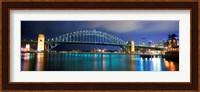 Sydney Harbour Bridge with the Sydney Opera House in the background, Sydney Harbor, Sydney, New South Wales, Australia Fine Art Print