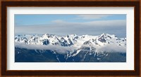 Snow covered mountains, Hurricane Ridge, Olympic National Park, Washington State, USA Fine Art Print