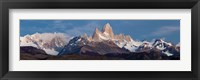 Snowcapped mountains, Mt Fitzroy, Cerro Torre, Argentine Glaciers National Park, Patagonia, Argentina Fine Art Print