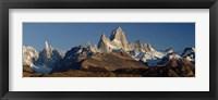 Mountains, Mt Fitzroy, Cerro Torre, Argentine Glaciers National Park, Patagonia, Argentina Fine Art Print