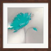 Aqua Platinum Petals I Fine Art Print