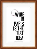 Drinks in Paris II Fine Art Print