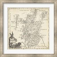 Map of Scotland Fine Art Print