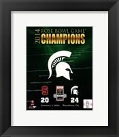 Michigan State Spartans 2014 Rose Bowl Champions Logo Fine Art Print