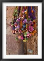 Multi-colored hangings on wall, Tulmas, Purmamarca, Quebrada De Humahuaca, Argentina Fine Art Print