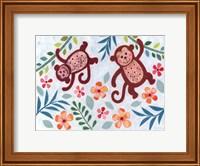 Swinging Monkeys Fine Art Print