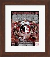Florida State University Seminoles All Time Greats Composite Fine Art Print