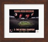 Florida State Seminoles 3- Time National Champions Fine Art Print