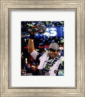 Russell Wilson with the Vince Lombardi Trophy Super Bowl XLVIII Fine Art Print