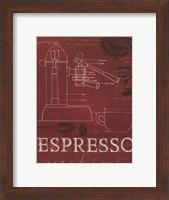 Coffee Blueprint IV v Fine Art Print