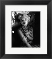 Marilyn Monroe 1954 Striped Dress Fine Art Print