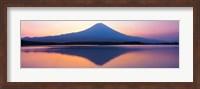 Mt Fuji reflection in a lake, Shizuoka Japan Fine Art Print