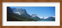 Lake in front of mountains, St. Mary Lake, US Glacier National Park, Montana Fine Art Print