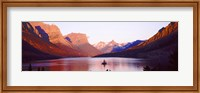 St. Mary Lake at US Glacier National Park, Montana, USA Fine Art Print