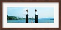 View from the Minne Ha Ha Steamboat, Lake George, New York State, USA Fine Art Print