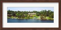 Buildings along Lake George, New York State, USA Fine Art Print