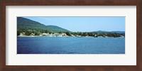 View of a dock, Lake George, New York State, USA Fine Art Print