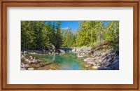 McDonald Creek along Going-to-the-Sun Road at US Glacier National Park, Montana, USA Fine Art Print