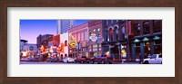 Street scene at dusk, Nashville, Tennessee, USA Fine Art Print