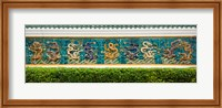 Dragon frieze outside a building, Singapore Chinese Chamber of Commerce and Industry, Singapore Fine Art Print