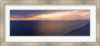 Clouds over a lake at dusk, Lake Michigan, Michigan, USA Fine Art Print