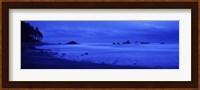 Surf on the beach, Ruby Beach, Olympic National Park, Olympic Peninsula, Washington State, USA Fine Art Print