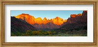 Towers of the Virgin and the West Temple in Zion National Park, Springdale, Utah, USA Fine Art Print
