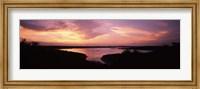 Lake Travis at dusk - Pink Sky, Austin, Texas Fine Art Print