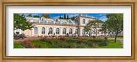 Garden outside a palace, Peterhof Grand Palace, St. Petersburg, Russia Fine Art Print