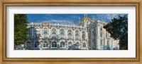 Facade of a palace, Catherine Palace, Tsarskoye Selo, St. Petersburg, Russia Fine Art Print