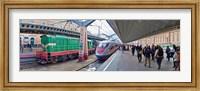 Bullet train at a railroad station, St. Petersburg, Russia Fine Art Print