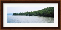 View from a boat, Lake George, New York State, USA Fine Art Print