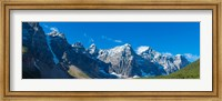 Mountains over Moraine Lake in Banff National Park in the Canadian Rockies near Lake Louise, Alberta, Canada Fine Art Print