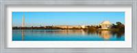 Jefferson Memorial and Washington Monument at dusk, Tidal Basin, Washington DC, USA Fine Art Print