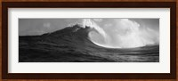 Waves in the sea, Maui, Hawaii (black and white) Fine Art Print