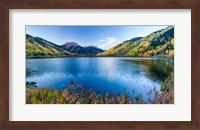 Crystal Lake surrounded by mountains, Ironton Park, Million Dollar Highway, Red Mountain, San Juan Mountains, Colorado, USA Fine Art Print